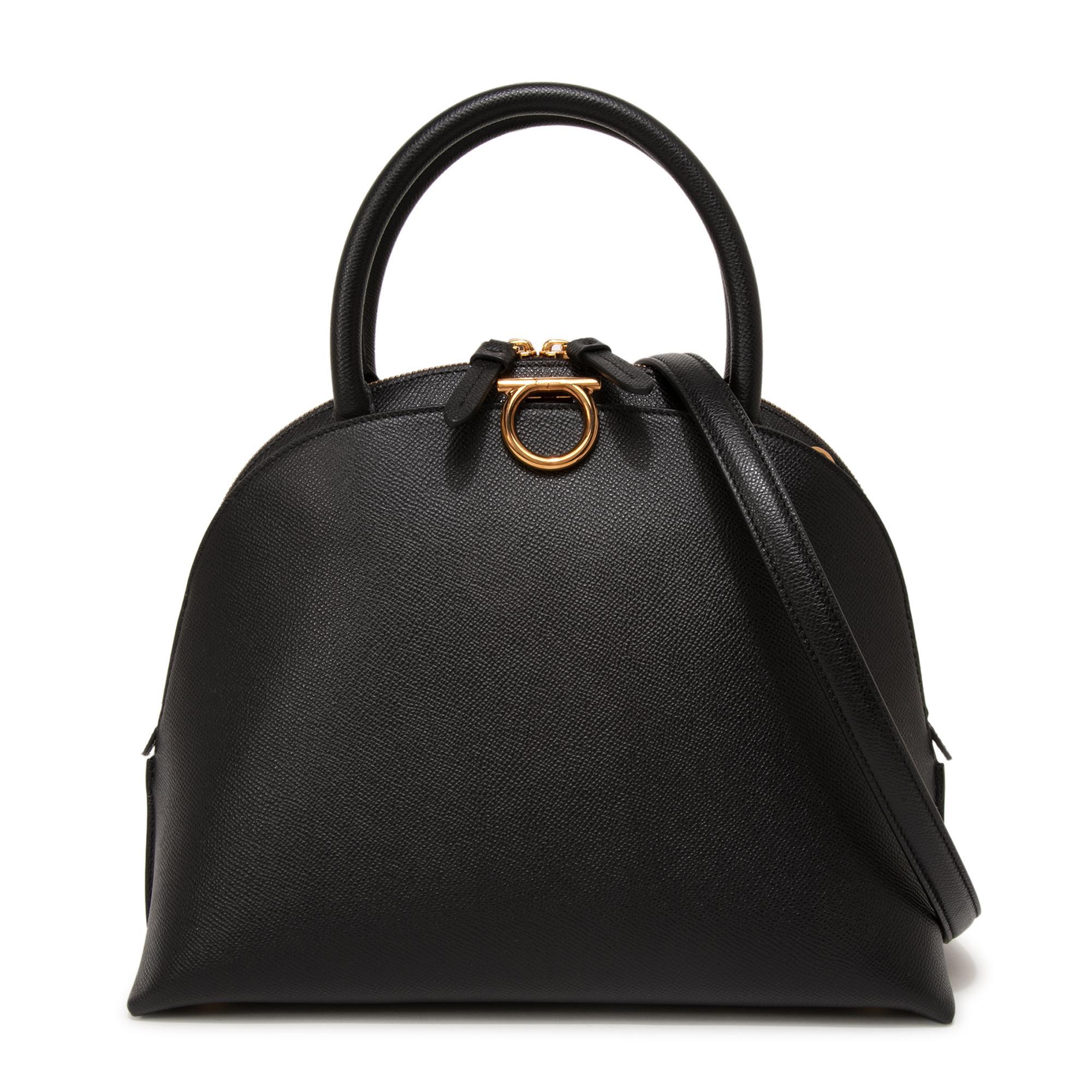 Gancini medium top handle bag
