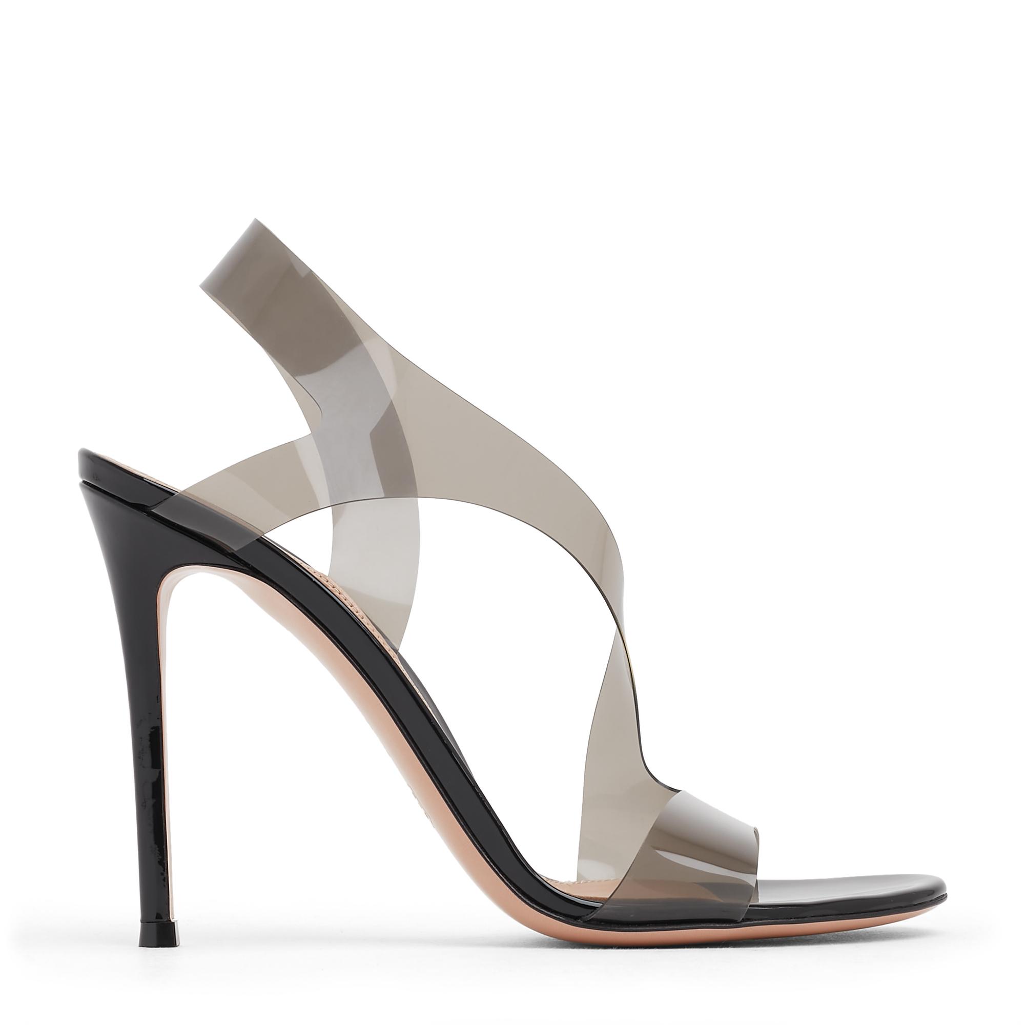 PVC high-heel sandals